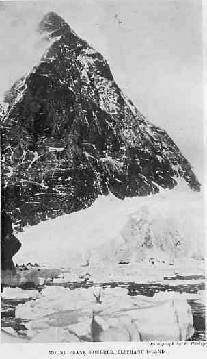 Mount Frank Houlder, Elephant Island Photo Credit: Frank Hurley, the Shackleton expedition's photographer
