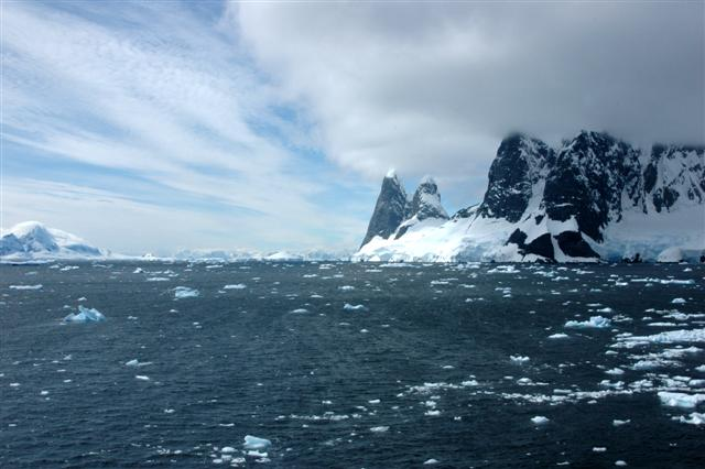 The northwestern opening to the Gerlache Strait near the Antarctic Peninsula.Photo Credit: Peter Rejcek/National Science Foundation