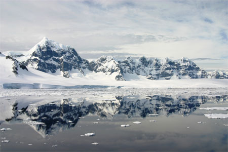 The Gerlache Strait between Anvers Island and the Antarctic Peninsula. Photo Credit: Zee Evans/National Science Foundation