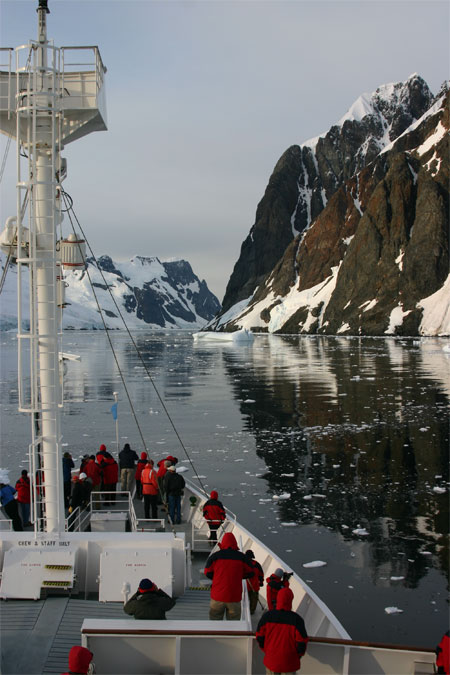 The Lemaire Channel near the Antarctic Peninsula.Photo Credit: Zee Evans/National Science Foundation
