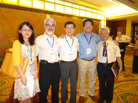 GSA International Section Reception with Jack Hess, Shuwen Dong, An Yin, and Xianlai Meng.