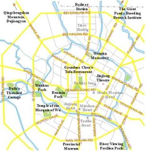 Figure 2. Chengdu City Map