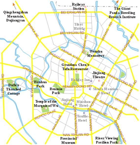 Figure 2. Chengdu City Map