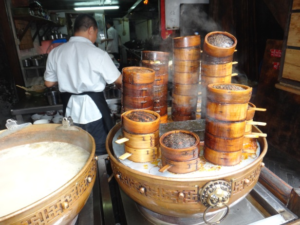 Chengdu's Famous Hot Pot Eatery inside Wide and Narrow Alley.