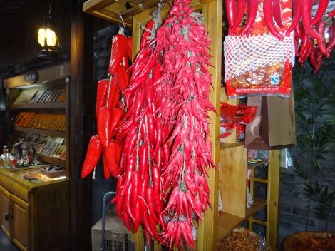 Super hot Sichuan chili peppers used in Hot Pot.