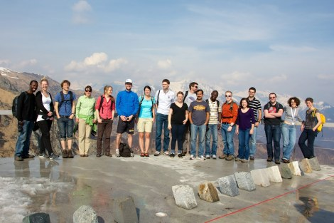 Student participants on geological excursion
