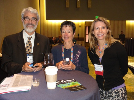 Dr. Jack Hess, Mrs. Hess, and Wesley Hill enjoying some quality time at the GSA IS reception