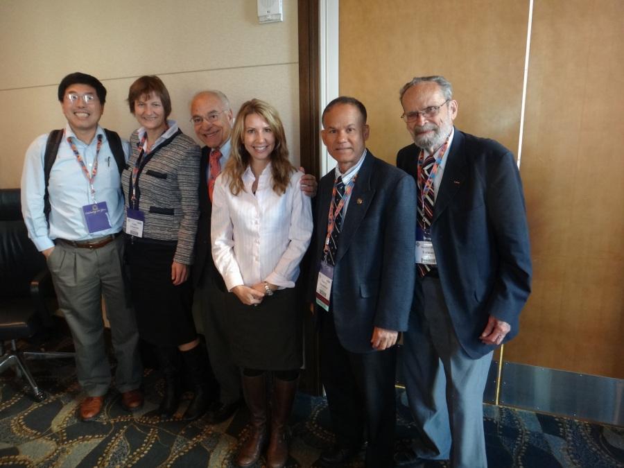 Dr. Khandaker with GSA International Section Board Members