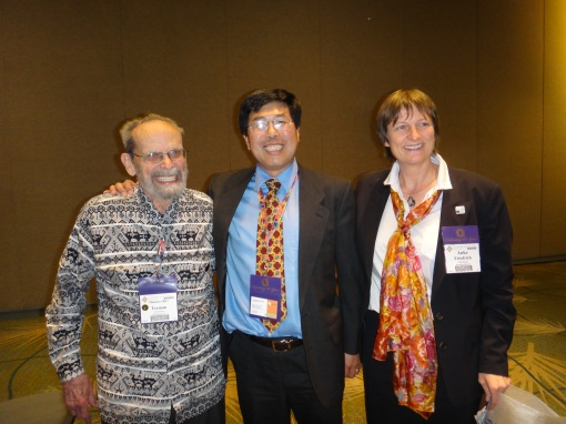 Dr. Ric Terman (left) received Outstanding GSA IS Service Award - a pleasant surprise!!