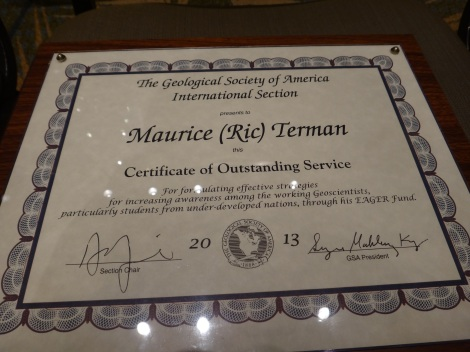 Dr. Ric Terman's Plaque