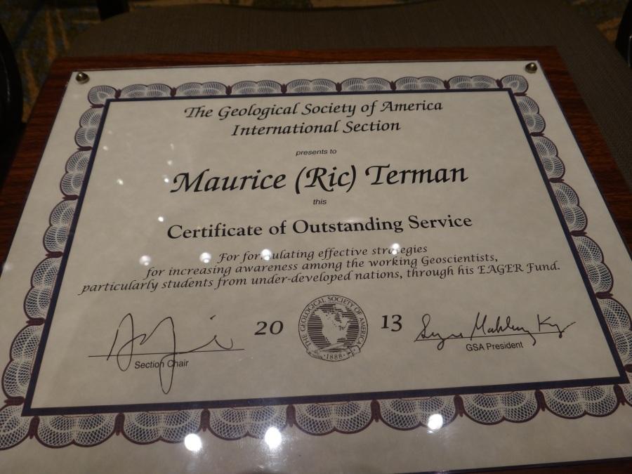 Dr. Ric Terman's Plaque