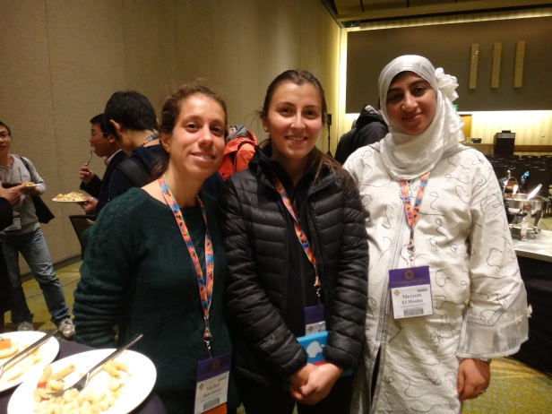 Left to right Michal (Israel), Rocio (Chile), and Elmoulat (Morocco)