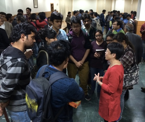 I enjoyed talking with many students at University of Delhi, and especially encouraging the few women geology students.