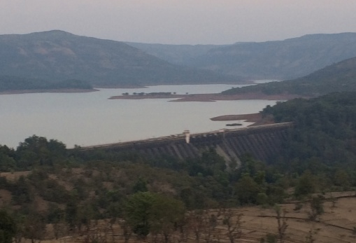 The Koyna reservoir sits on top of Deccan Trap basalts and induces seismicity in this region of the Western Ghats.