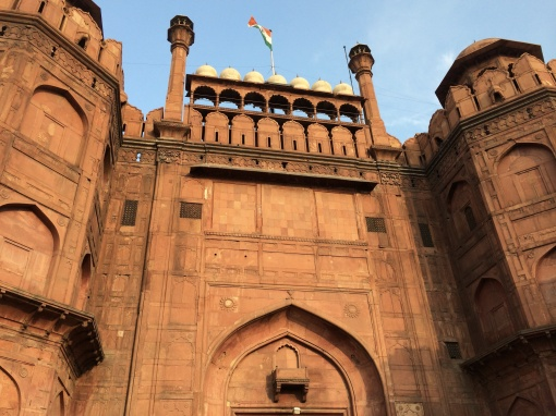 The Lahore Gate at the Red Fort, where India's flag was first raised after independence in 1947.