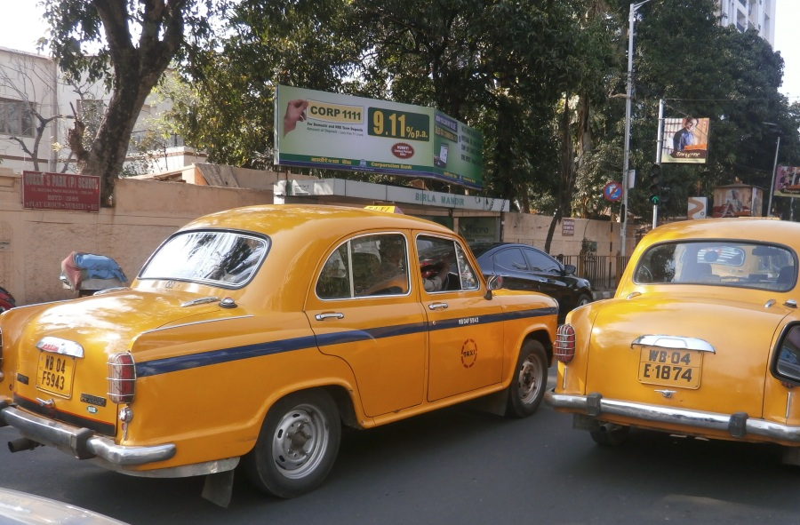 The yellow Ambassador cabs are ubiquitous and honk their horns incessantly.