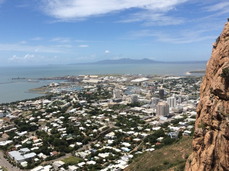 There are great views of Townsville, Queensland from Castle Hill- a granite monolith.