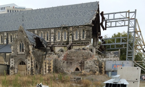This majestic and historic cathedral that was damaged multiple times by earthquakes in Christchurch's downtown (an estimated $150 million to repair).