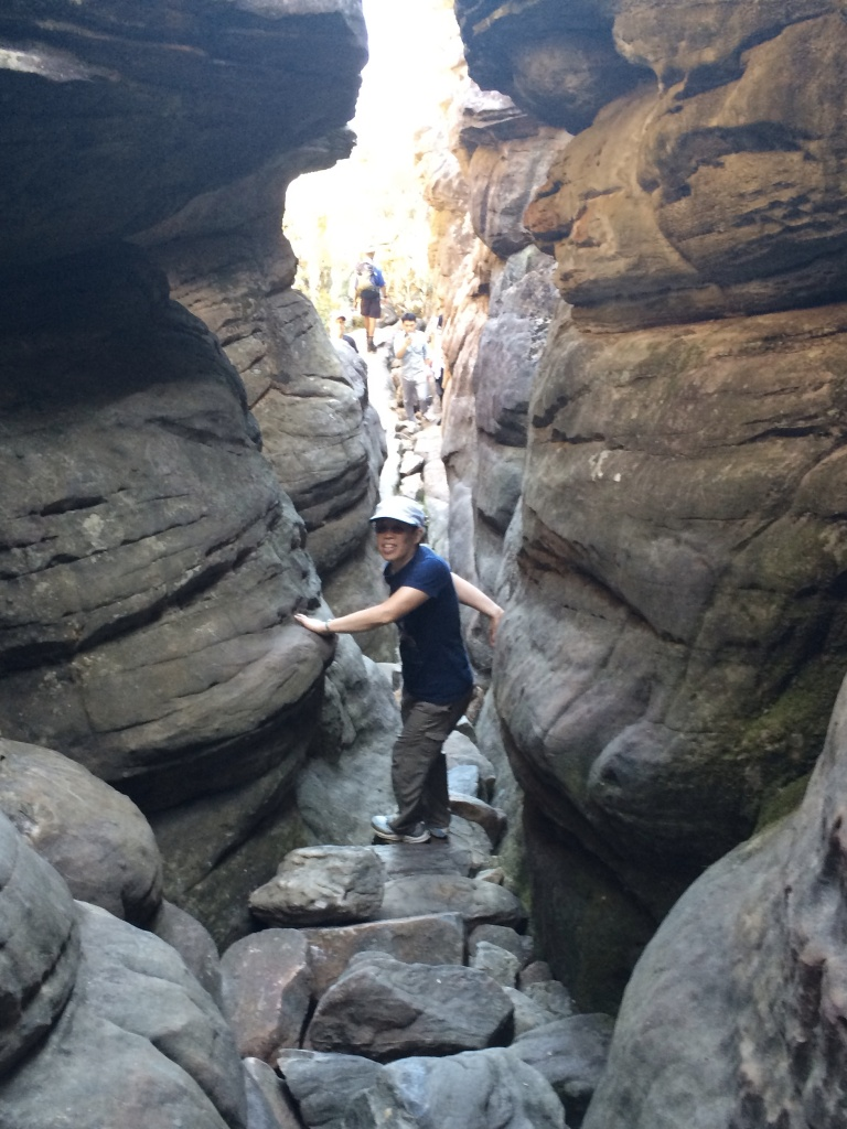 The Grampians trail took us through a narrow canyon in the Silurian sandstones.