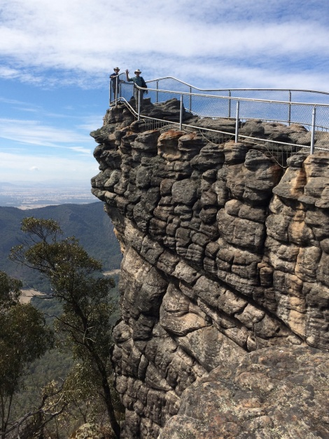 In the Grampians, stacked fluvial Silurian sandstones comprise the Pinnacle lookout.