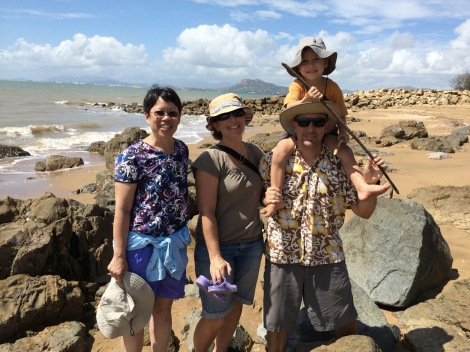 We were at Cape Pallarenda with Dr. Eric Roberts (son Henry and wife Dana).