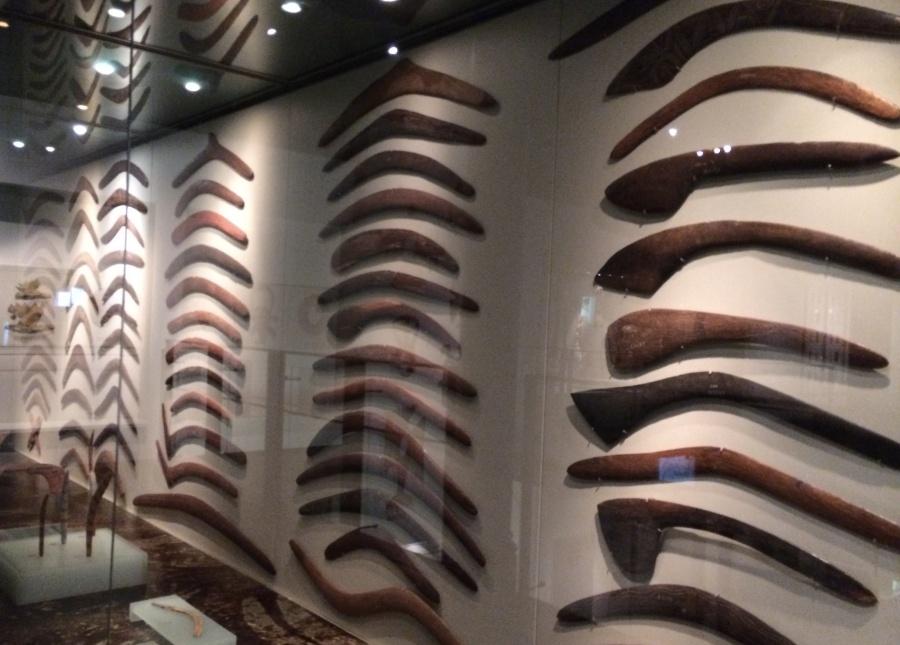 Aboriginal displays with Australia's famous boomerangs.