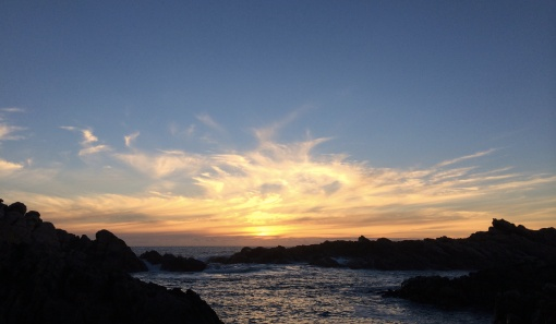 A last sunset at Canal Rocks north of Margaret River, Western Australia.