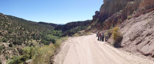 Geology excursion to Shelf Road, north of Cañon City.  This stop was to check out the Ordovician Harding Formation.