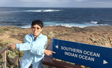 Two oceans converge at Cape Leeuwin, the southwestern-most point of Australia.