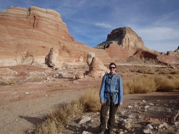 Author in front of Gunsight Butte in the Glen Canyon National Recreation Area.