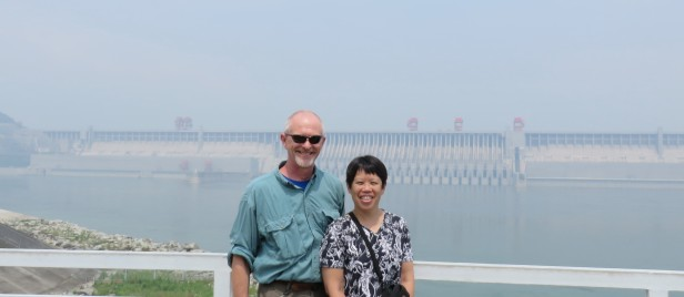 My husband John and I enjoyed seeing the Three Gorges Dam. At the dam site itself, there were many tour groups of both foreign and Chinese visitors.