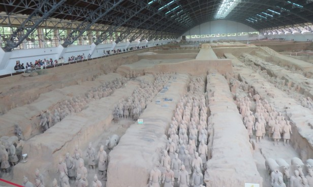 It's exciting to see the world famous Terra Cotta Warriors.