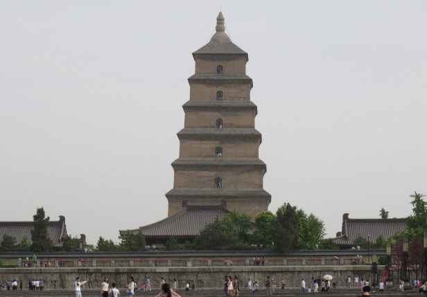 The tall Big Goose Pagoda tower is a popular site.
