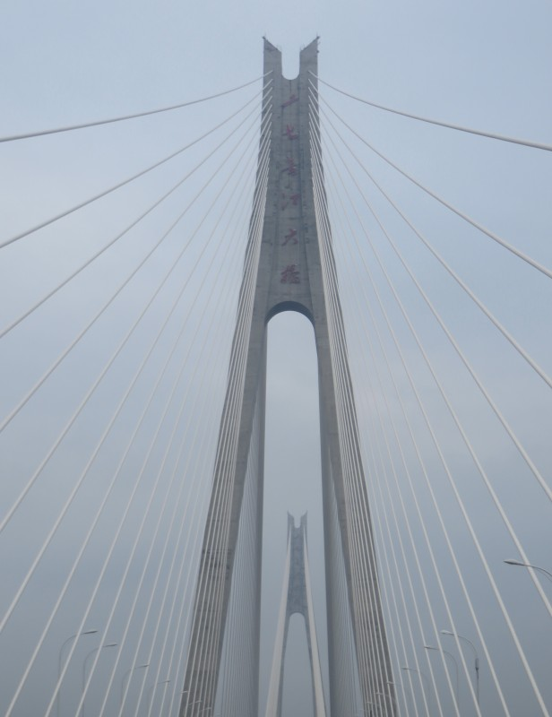 China has invested heavily in infrastructure with many new bridges.