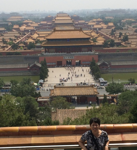 From Jingshan park, you can see the overview of the Forbidden City with China's best preserved ancient buildings.