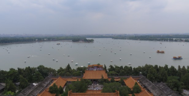 In the bustle of Beijing, there are still some serene moments looking at the Summer Palace grounds.
