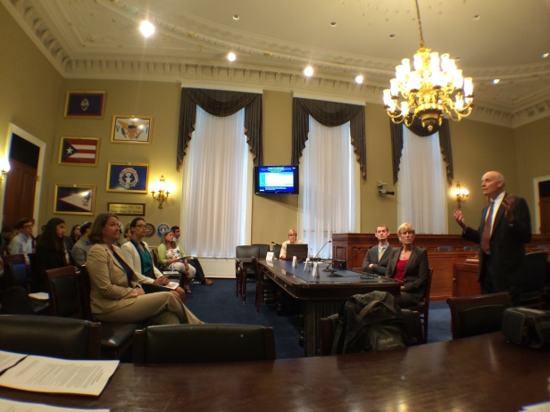 A staffer's-eye view of a briefing on carbon capture and sequestration in the Senate Natural Resources Committee room