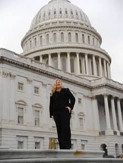 Tanya Del Valle, a graduate student at the University of Cincinnati, participates in the 2009 Geosciences Congressional Visits Day.
