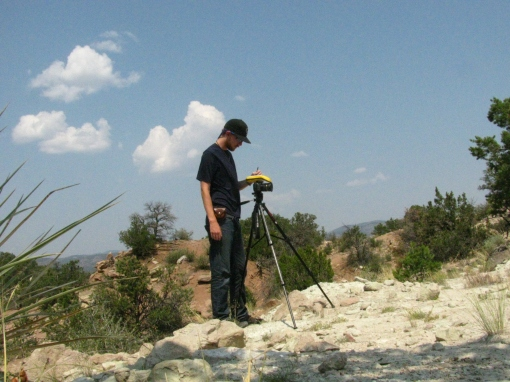 Collecting photo point data in the Garden Park Fossil Area