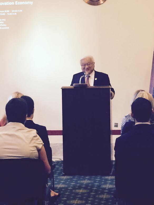 Representative Honda addressing the briefing attendees. Credit: Kasey White.