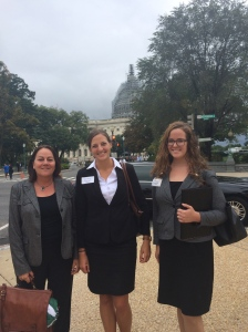The Capitol Building photobombs GeoCVD participants on the Hill.