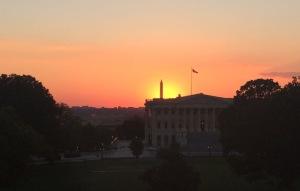 Dusk on Capitol Hill. Credit: Elizabeth Goldbaum.