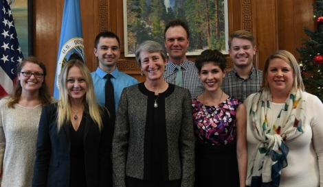Team National Conservation Lands with Interior Secretary Sally Jewell, DOI Employee Appreciation Day 2016.