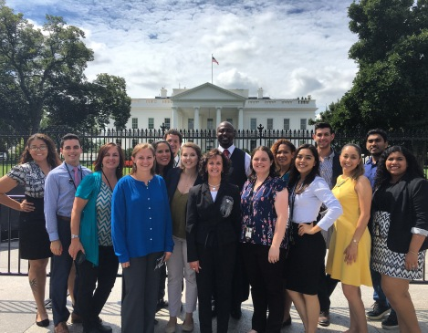 The DHA-RA program participants at the White House