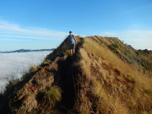 BAtur hiking crater rim 1