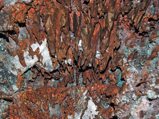 Copper_and_calcite_(Mesoproterozoic,_1.05-1.06_Ga;_Pewabic_Lode,_Upper_Peninsula_of_Michigan,_USA)_3_(16679632374)
