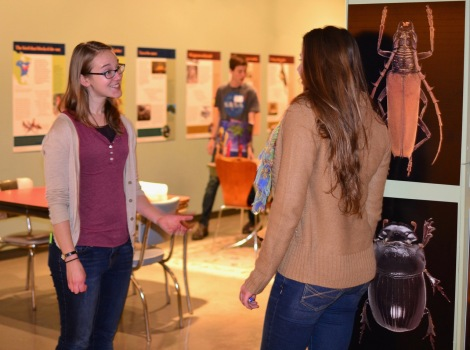 Geologist Laura Grace Beckerman chats with a student after the cafe copy 2
