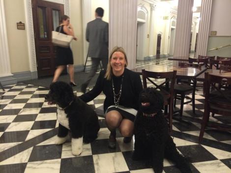 Picture of author Kelly Kryc with dogs