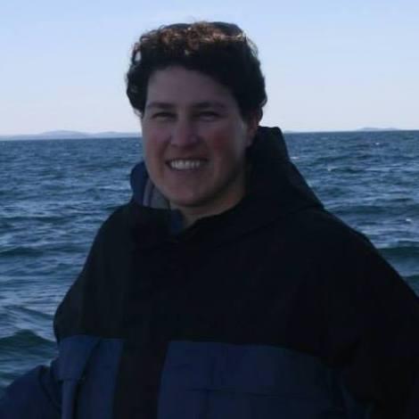 Author in Lake Superior