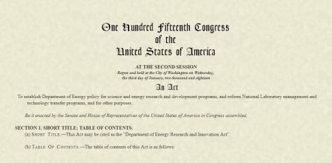 Image capture of title page of HB 589 from congress.gov site